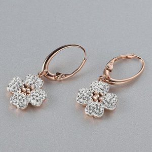 SWAROVSKI LATISHA four-leaf clover flower earrings